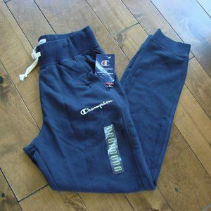 Authentic Champion Navy Sweat Track Pants ~ NWT